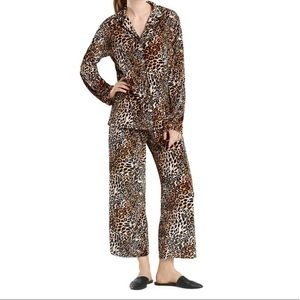 Natori Leopard Velvet Velour Pajamas Set S, M, XL